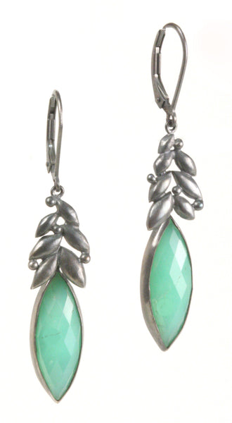 Chrysoprase Bud Earrings (In Stock)