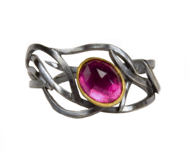 Tourmaline Branch Ring