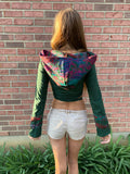 Green Rainbow Faerie Wrap Hood