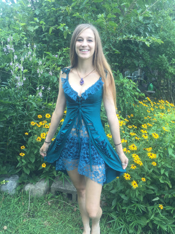 Fairy Lace Tank Top Turquoise