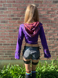 Purple & Orange Faerie Wrap Hood