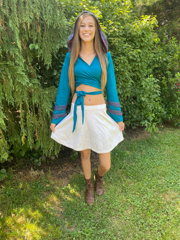 Turquoise Faerie Wrap Hood