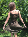 Fairy Lace Tank Top Olive