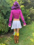 Hot Pink & Purple Faerie Wrap Hood