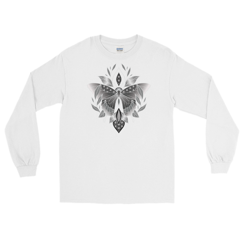 V6 Sacred Butterfly Unisex Long Sleeve T-Shirt Featuring Original Artwork By Abby Muench