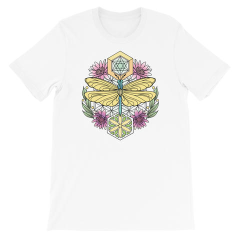 V5 Sacred Dragonfly Unisex T-Shirt Featuring Original Artwork By Abby Muench