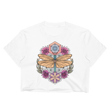 V3 Sacred Dragonfly Crop Top (Unhemmed Bottom) Featuring Original Artwork By Abby Muench