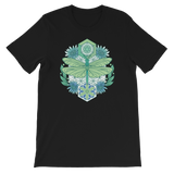 V6 Sacred Dragonfly Unisex T-Shirt Featuring Original Artwork By Abby Muench