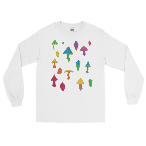 Rainbow Mushroom Long Sleeve Shirt Featuring Original Artwork by Intothavoid