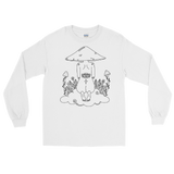 B&W Mushroom Dreamer Long Sleeve Shirt Featuring original artwork by Kozmic Art