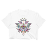 V4 Sacred Butterfly Crop Top (Unhemmed bottom) Featuring Original Artwork By Abby Muench