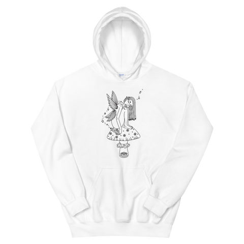 B&W Fae Magick Unisex Sweatshirt Featuring Original Artwork by Kozmic Art