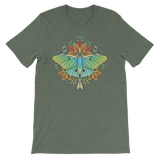 V1 Sacred Lunar Moth Unisex T-Shirt Featuring Original Artwork by Abby Muench