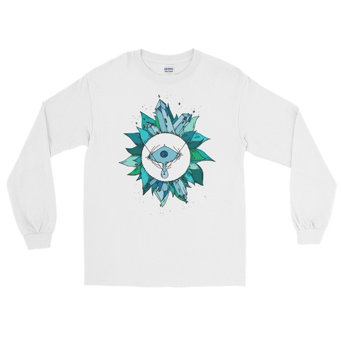 Teal Crystal Fairy Unisex Long Sleeve T-Shirt