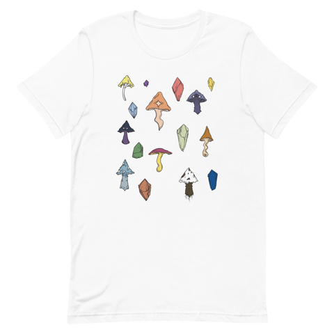 V2 Mushroom Unisex T-Shirt Featuring Original Artwork by Intothavoid