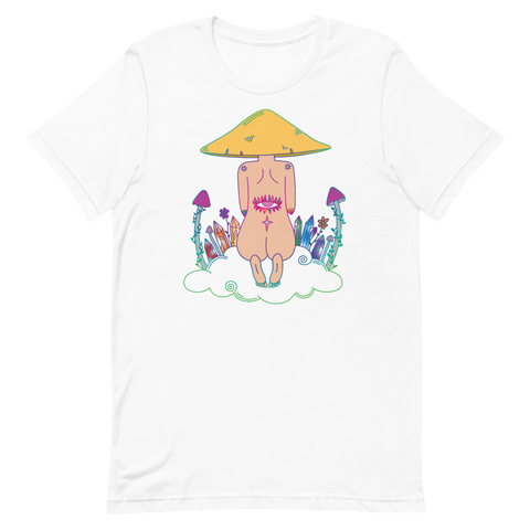 V3 Mushroom Dreamer Unisex T-Shirt Featuring original artwork by Kozmic Art
