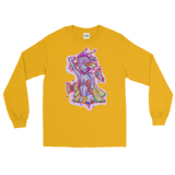 V3 Butterfly Girl Unisex Long Sleeve Shirt Featuring Original Artwork By IntoThaVoid