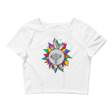 Rainbow Crystal Fairy Crop Top (Hemmed Bottom)