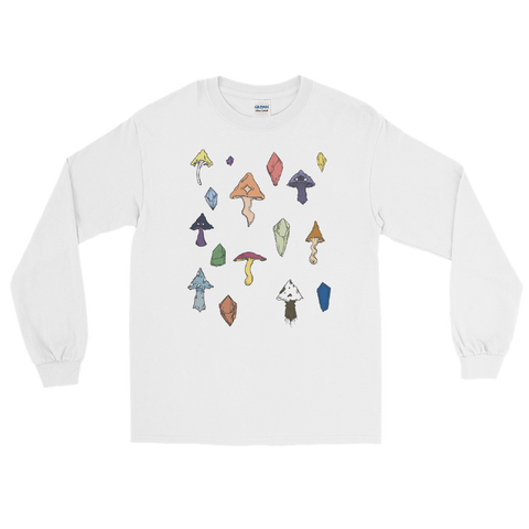 V2 Mushroom Unisex Long Sleeve Shirt Featuring Original Artwork by Intothavoid