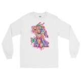 V4 Butterfly Girl Unisex Long Sleeve Shirt Featuring Original Artwork By IntoThaVoid