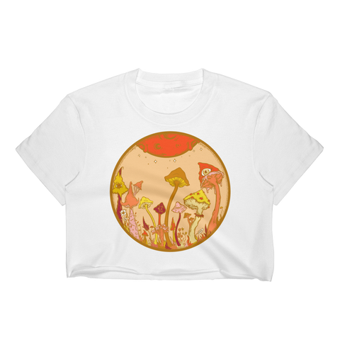 Autumn Fairy Garden Crop Top (Unhemmed Bottom)