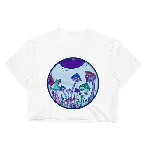 Lavender Fairy Garden Crop Top (Unhemmed Bottom)