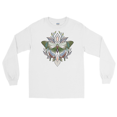 V5 Sacred Butterfly Unisex Long Sleeve T-Shirt Featuring Original Artwork By Abby Muench