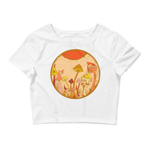 Autumn Fairy Garden Crop Top (Hemmed Bottom)