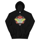 V5 Sacred Lunar Moth Unisex Sweatshirt Featuring Original Artwork by Abby Muench