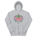 V4 Sacred Lunar Moth Unisex Sweatshirt Featuring Original Artwork by Abby Muench