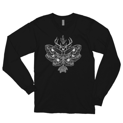 Nocturnal Midnight White Unisex Long Sleeve T-Shirt