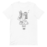 B&W Fae Magick Unisex T-Shirt Featuring Original Artwork by Kozmic Art