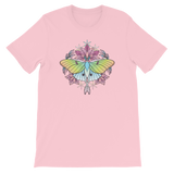 V3 Sacred Lunar Moth Unisex T-Shirt Featuring Original Artwork by Abby Muench