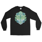 V6 Sacred Dragonfly Unisex Long Sleeve Shirt Featuring Original Artwork By Abby Muench