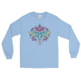V2 Sacred Lunar Moth Unisex Long Sleeve Shirt Featuring Original Artwork by Abby Muench
