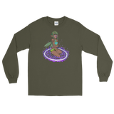Earth Valora Unisex Long Sleeve Shirt Featuring Original Artwork By Fae Plur