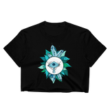 Teal Crystal Fairy Crop Top (Unhemmed Bottom)
