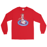 Fire Valora Unisex Long Sleeve Shirt Featuring Original Artwork By Fae Plur