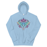 V2 Sacred Lunar Moth Unisex Sweatshirt Featuring Original Artwork by Abby Muench