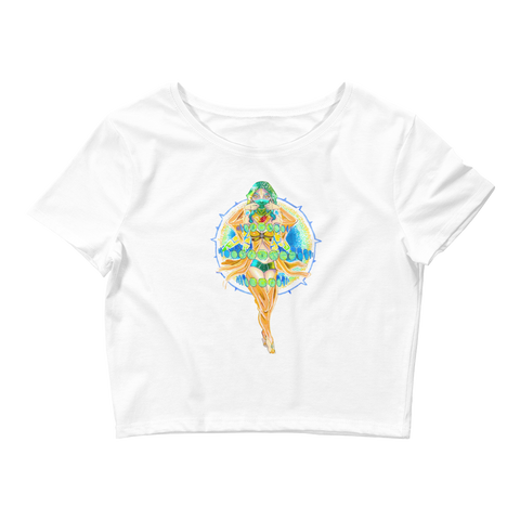 V3 Nova Crop Top Featuring Original Artwork by Fae Plur