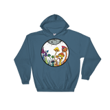 Rainbow Fairy Garden Unisex Hooded Sweatshirt