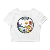 Rainbow Fairy Garden Crop Top (Hemmed Bottom)