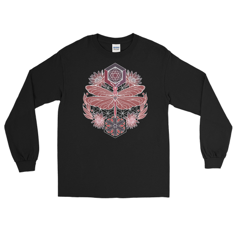 V8 Sacred Dragonfly Unisex Long Sleeve Shirt Featuring Original Artwork By Abby Muench