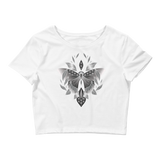 V6 Sacred Butterfly Crop Top (Hemmed Bottom) Featuring Original Artwork By Abby Muench
