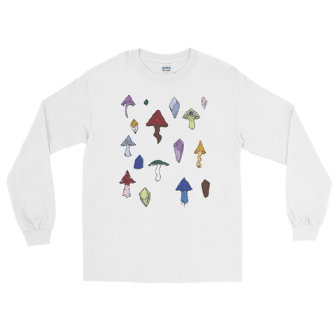 V3 Mushroom Unisex Long Sleeve Shirt Featuring Original Artwork by Intothavoid