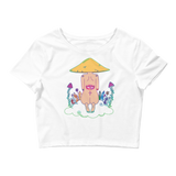V3 Mushroom Dreamer Crop Top Featuring original artwork by Kozmic Art