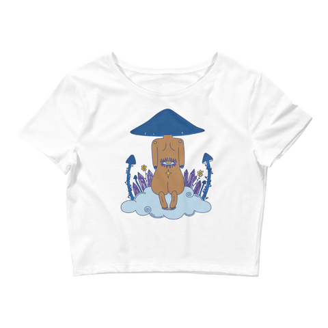 V2 Mushroom Dreamer Crop Top Featuring Original Artwork by Kozmic Art