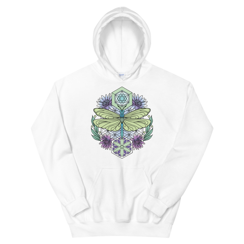 V1 Sacred Dragonfly Unisex Sweatshirt Featuring Original Artwork By Abby Muench