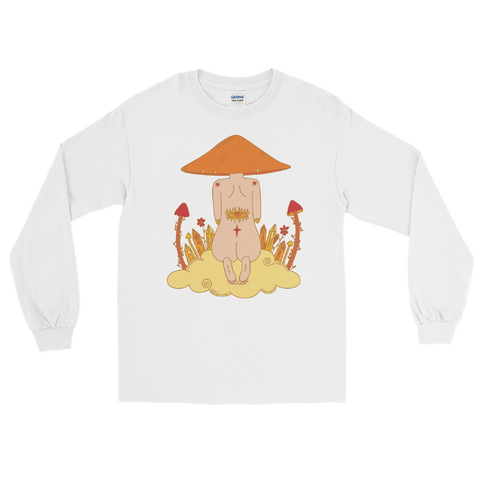 V1 Mushroom Dreamer Unisex Long Sleeve Shirt Featuring Original Artwork by Kozmic Art