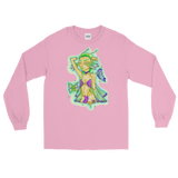 V5 Butterfly Girl Long Sleeve Shirt Featuring Original Artwork By IntoThaVoid